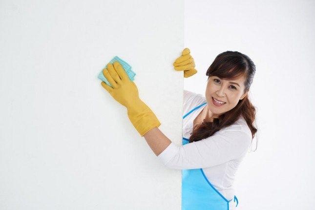 تنظيف الجدران